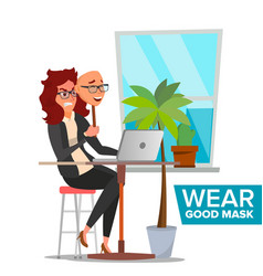 fake person bad tired woman deceive vector image