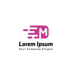 Fast letter m logo icon design vector