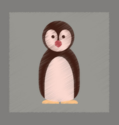 Flat shading style icon penguin vector