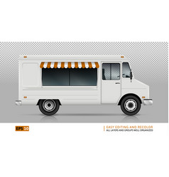 Food truck view from right side vector