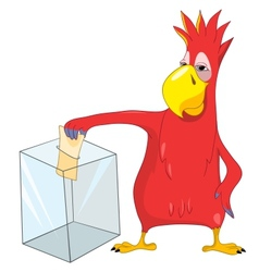 Funny Parrot Election vector image