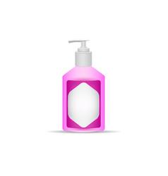 Gel or liquid soap pump bottle vector