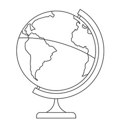 Geographic planet icon outline style vector