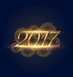 golden lights background for 2017 new year vector image