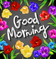 Good morning lettering Hand drawn set with morning vector