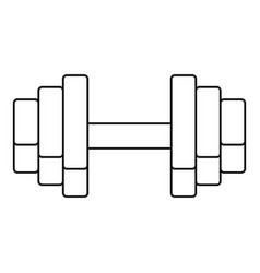 gym dumbell icon outline style vector image