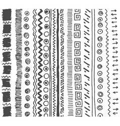 hand drawn sketch of simple pattern vector image
