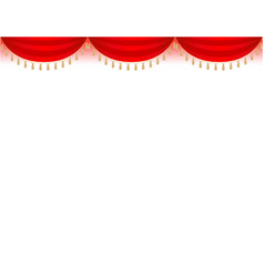 Holiday festive border with red curtains vector