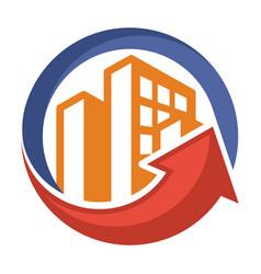 Icon logo for construction business vector