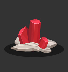 icon of ruby crystal banner vector image