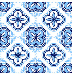 italian tile pattern ethnic folk ornament vector image