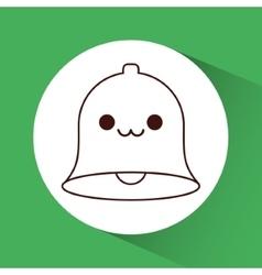 Kawaii bell of Christmas season design vector