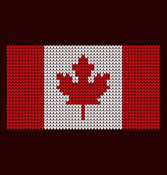 Knitted flag new years background canada vector