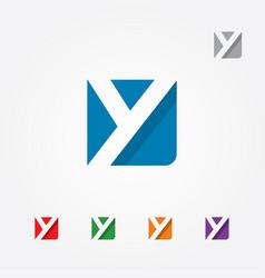 Letter y logo symbol vector