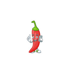 Mascot design red chili speaking on phone vector
