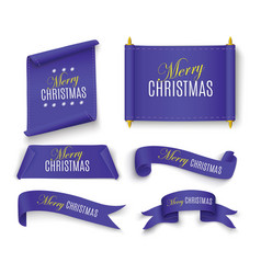 merry christmas scroll vector image