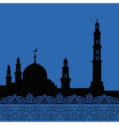 Mosques silhouette vector