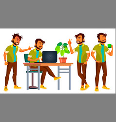 Office indian worker adult business male vector