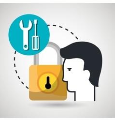 padlock silhouette icon vector image