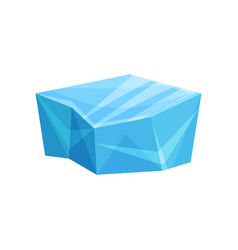 piece of ice cold frozen block vector image