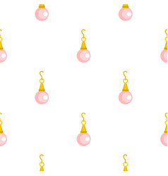 Pink pearl pendant pattern seamless vector