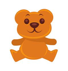 Plush teddy bear isolated on vector