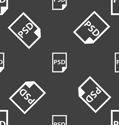 PSD Icon sign Seamless pattern on a gray vector