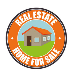 Real state home for sale vector