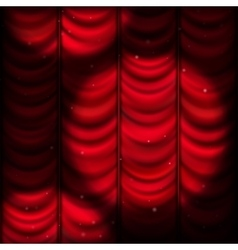 Red curtain with spot light EPS 10 vector image