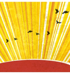 retro sunrays background vector image