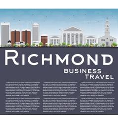 Richmond Virginia Skyline with Gray Buildings vector image