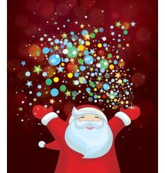 Santa confety vector