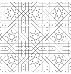 Seamless arabic geometric ornament in black vector