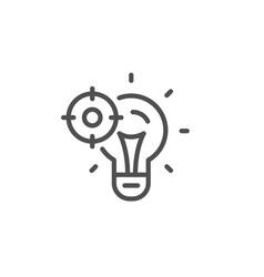 seo idea line icon web targeting sign traffic vector image