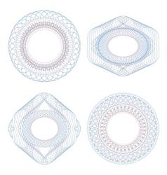 Set of guilloche vignettes vector