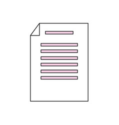sheet with bent corner vector image