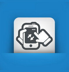 Smartphone icon file transfer vector