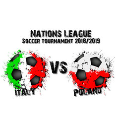 soccer game italy vs poland vector image