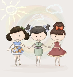 Three girlfriends vector