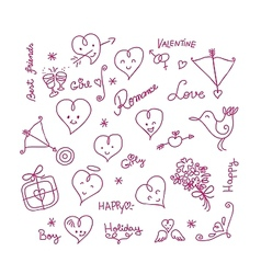 Valentine Cute Elements vector image