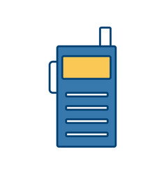 walkie talkie communication radio isolated on vector image