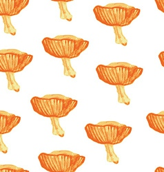 Watercolor seamless pattern mushrooms vector