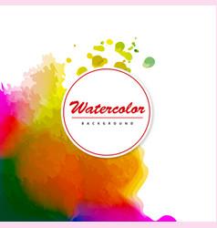 Watercolor splatter background vector