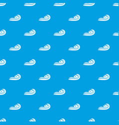 wave pattern seamless blue vector image
