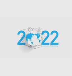 World economy 2022 new year business success vector