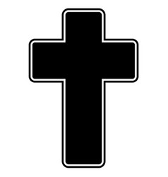 Church cross the black color icon vector