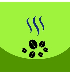 flat icon design collection coffee beans vector image vector image