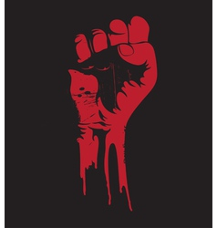grunge fist vector image vector image
