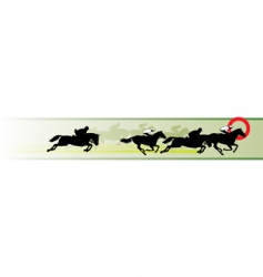 horse racing banner vector image vector image