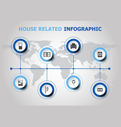 infographic design with house related icons vector image